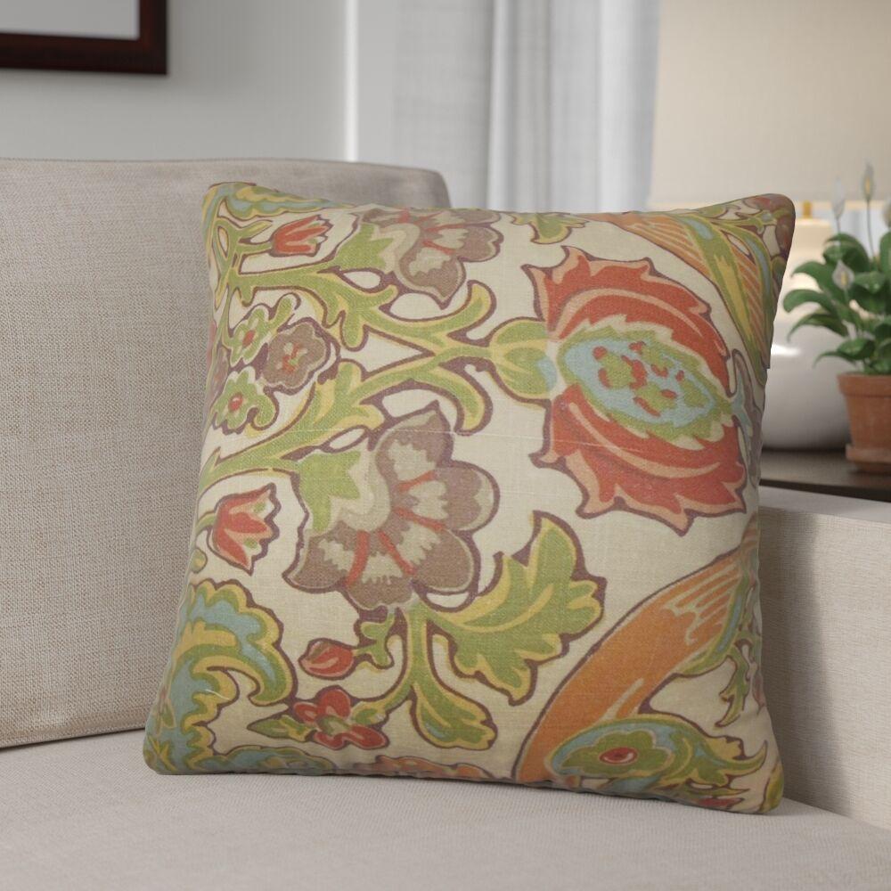 Dolton Square Linen Throw Pillow Color: Vintage