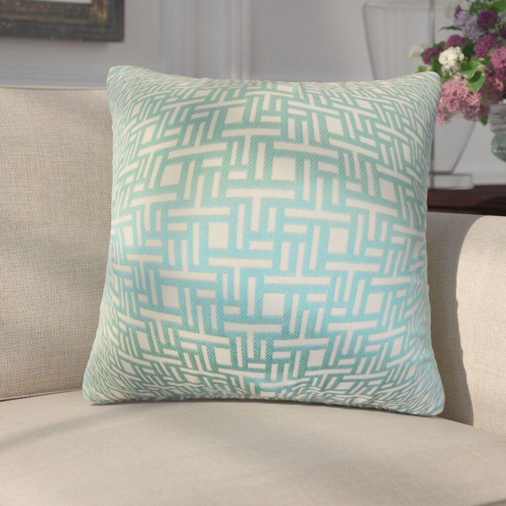 Griswalda Geometric Throw Pillow Color: Aquamarine