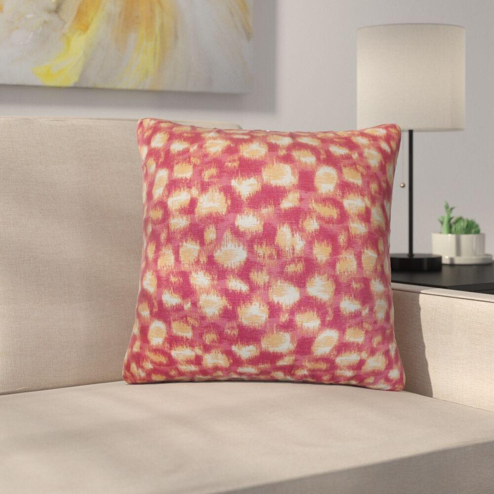 Straughter Geometric Cotton Throw Pillow Color: Azalea