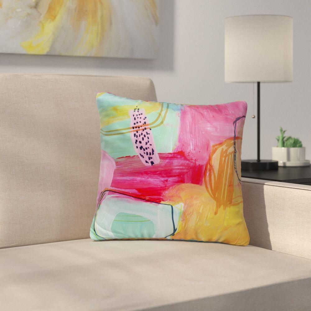 Chauntel Pink Indoor/Outdoor Throw Pillow Size: 26
