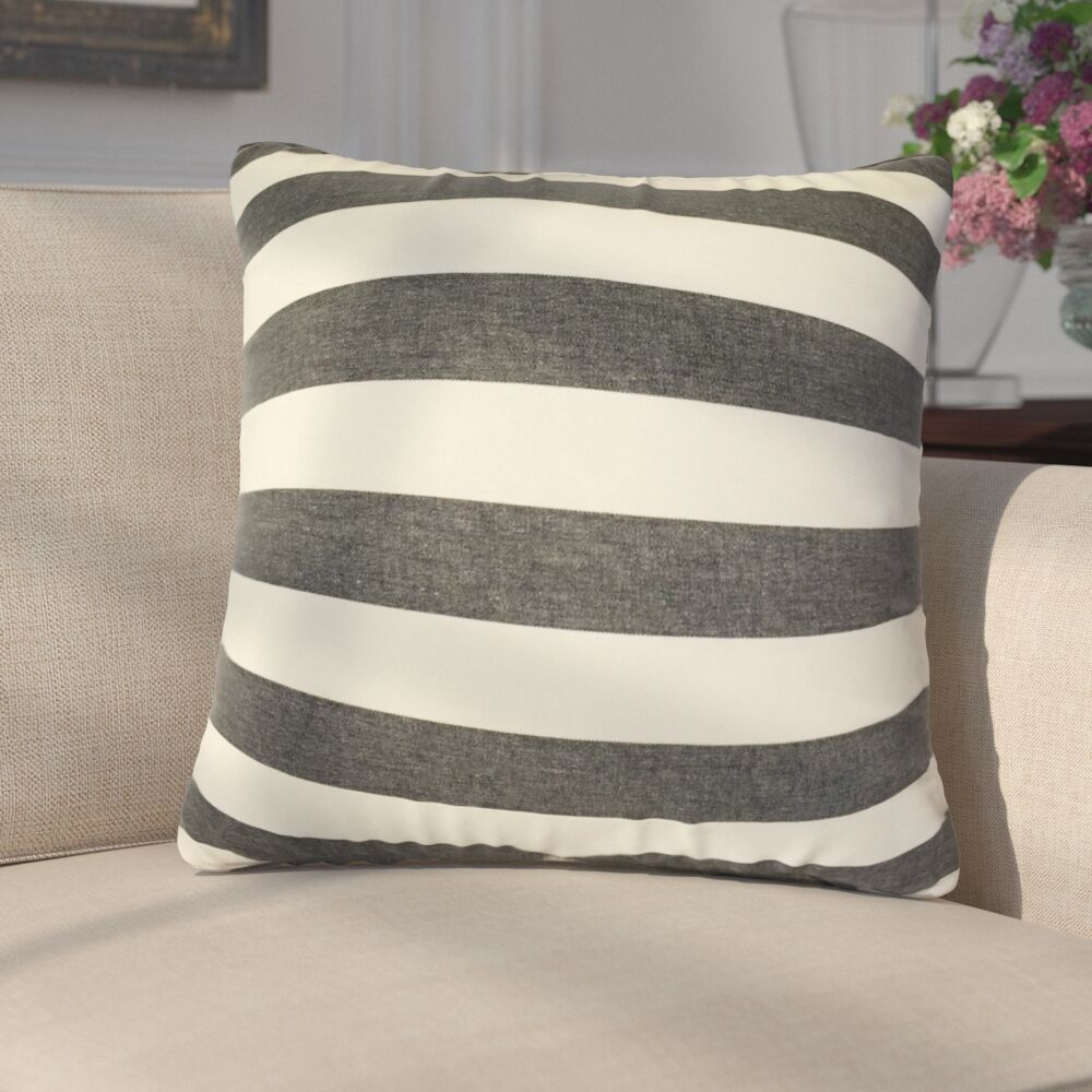 Gypsy Striped Down Filled 100% Cotton Throw Pillow Size: 24