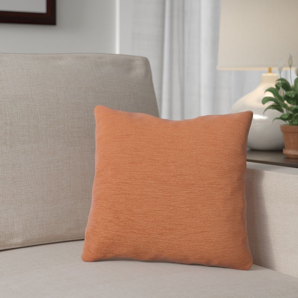 Danin Outdoor Throw Pillow Size: Small, Color: Tangerine