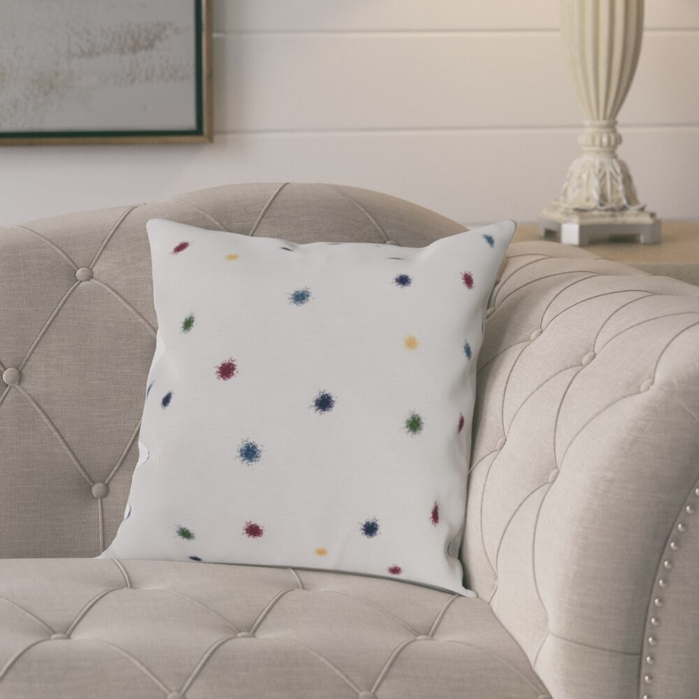 Kaylor Dots Indoor/Outdoor Throw Pillow Color: Rust, Size: 16