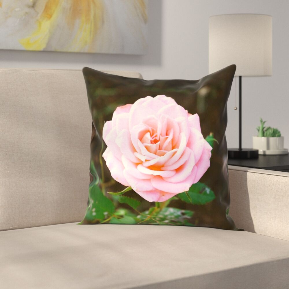 Rose Square Pillow Cover Size: 18