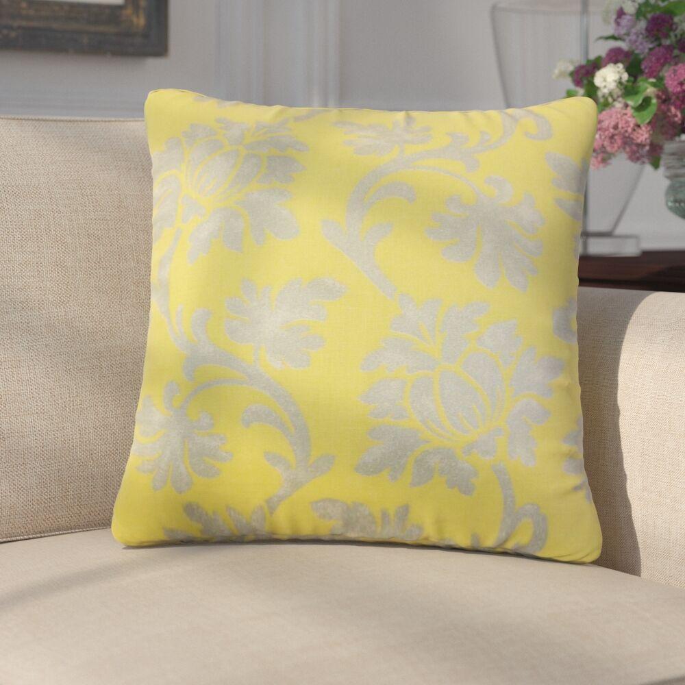 Arrighetto Floral Throw Pillow Color: Canary