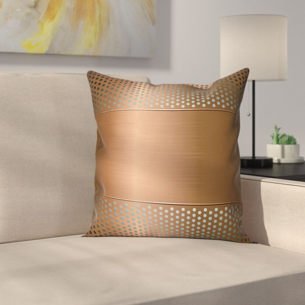 Perforated Grid Square Pillow Cover Size: 24
