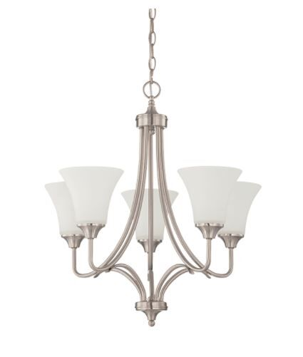 Fiala 5-Light Shaded Chandelier Finish: Nickel
