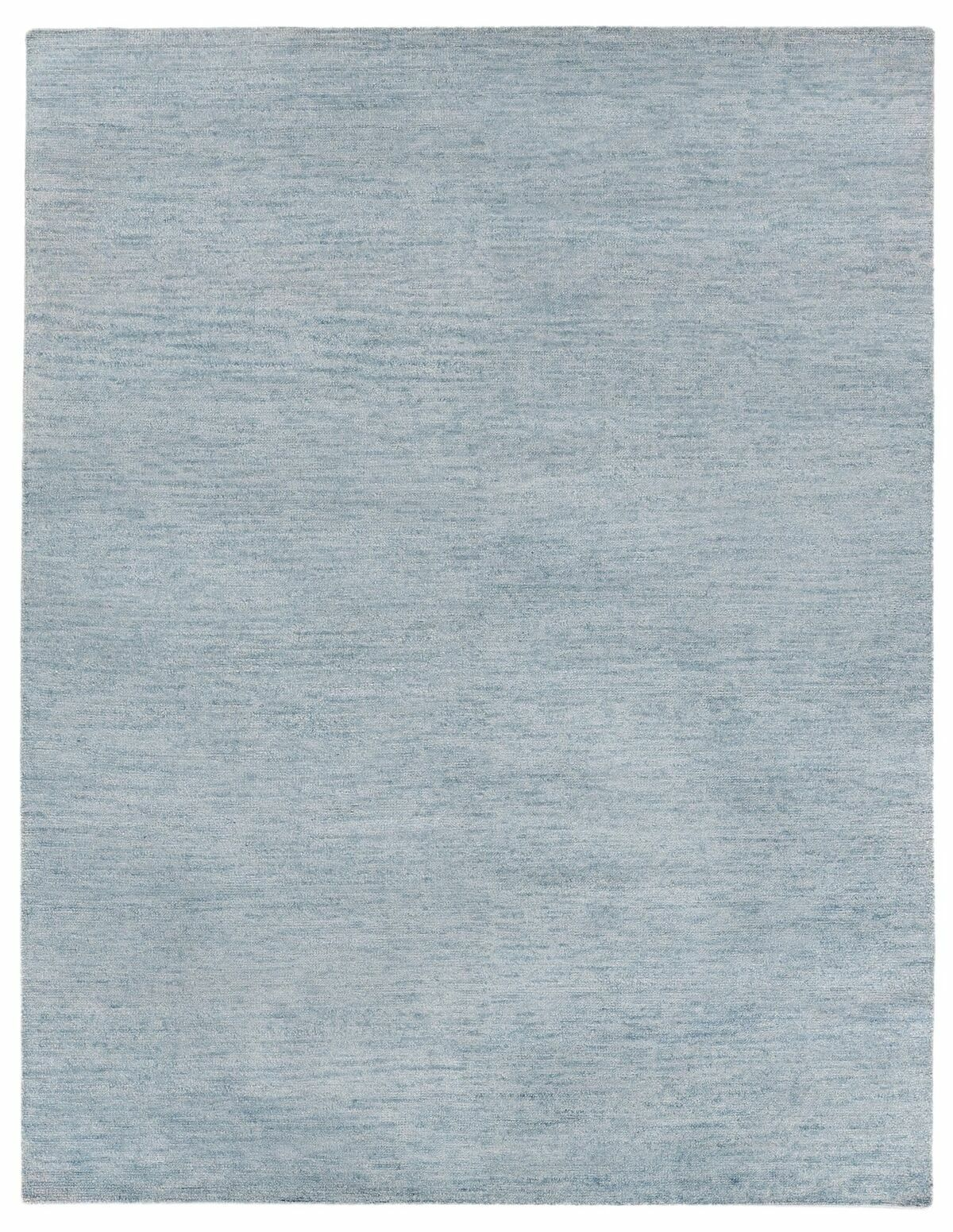 Perry Hand-Knotted Gray/Black Area Rug Rug Size: Rectangle 6' x 9'