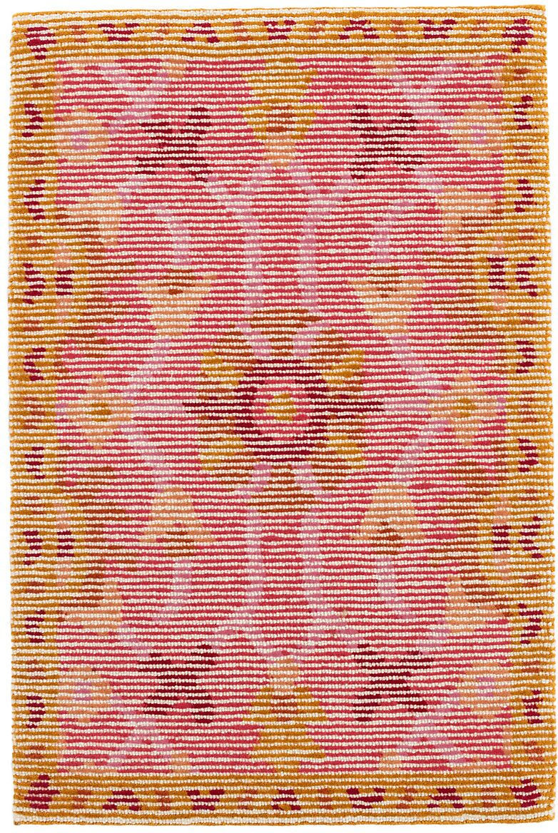 Fleur Hand-Hooked Wool Pink/Yellow Area Rug Rug Size: Runner 2'6