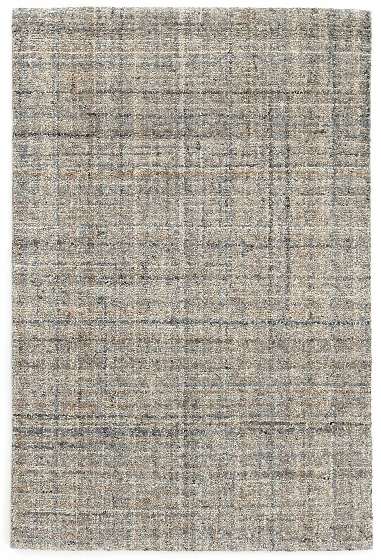 Harris Micro Hand-Hooked Wool Gray/Blue/Black Area Rug Rug Size: Rectangle 5' x 8'