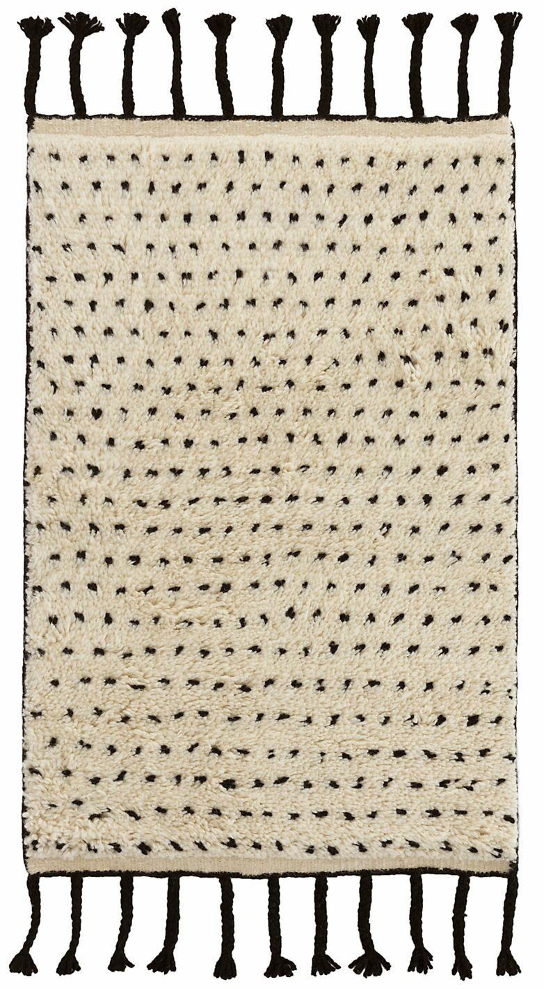 Speck Hand-Woven Black Area Rug Rug Size: Rectangle 2' x 3'