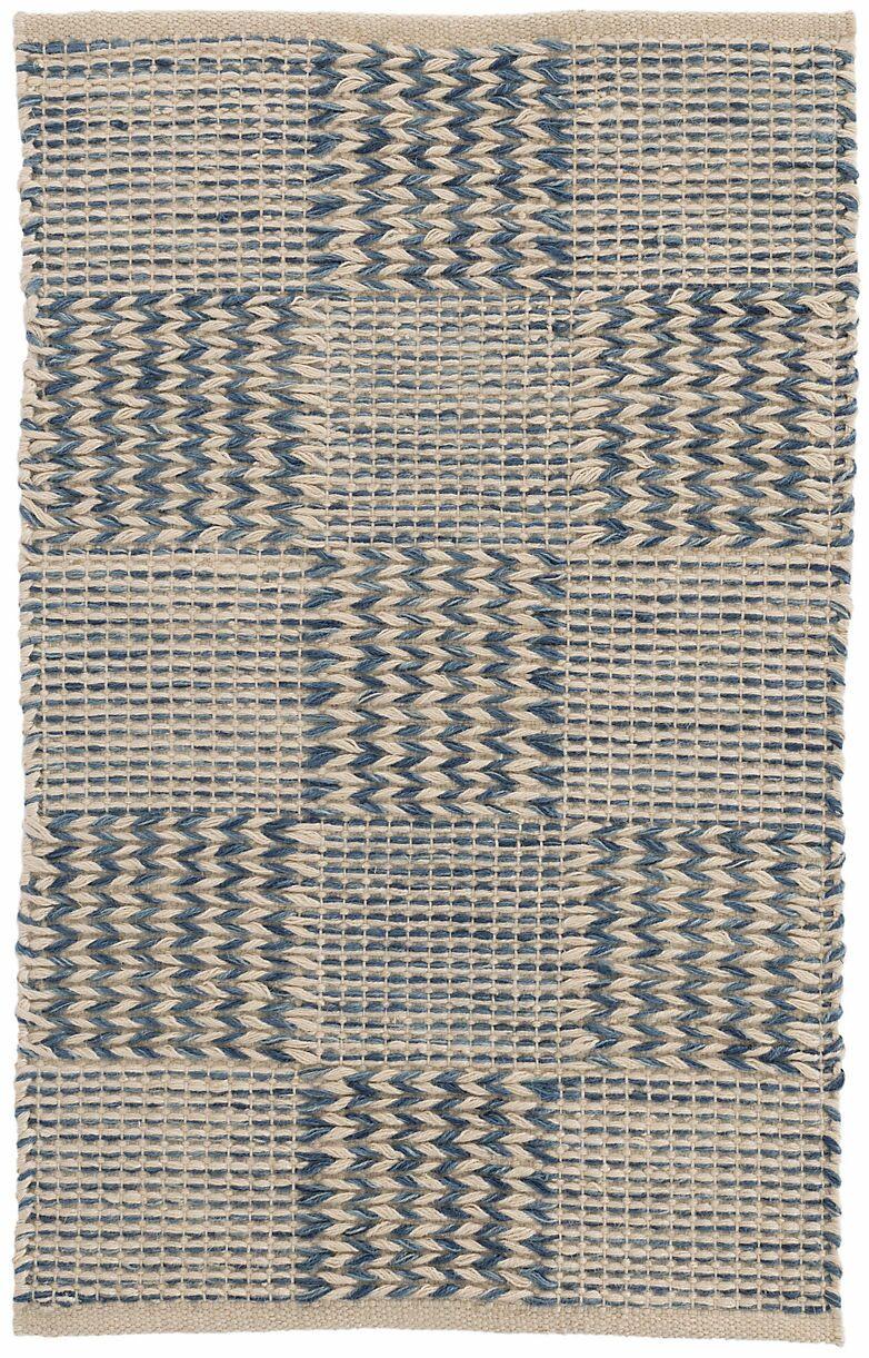 Tiles Hand-Woven Blue Area Rug Rug Size: Rectangle 8' x 10'