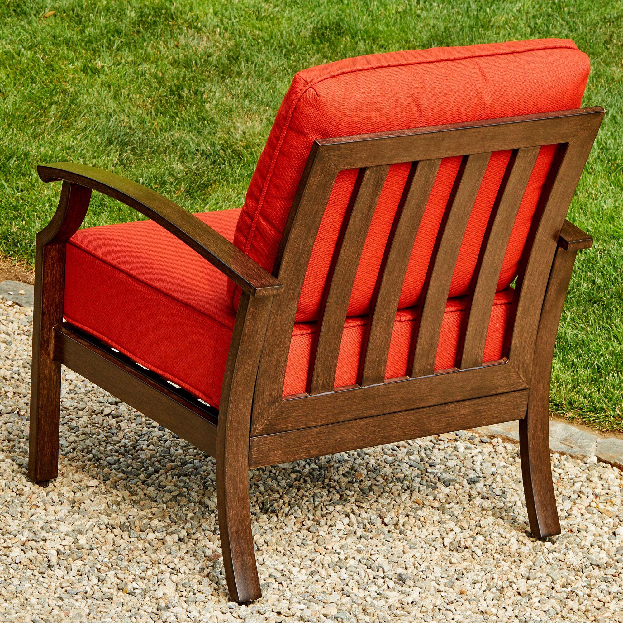 Yandel Bridgeport 3 Piece Conversation Set with Cushions Cushion Color: Red