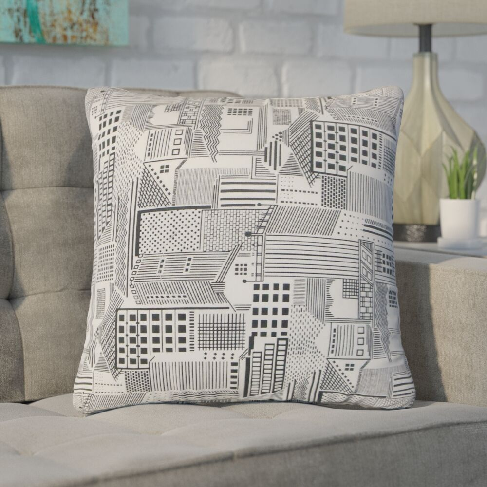 Woodsburgh Geometric Cotton Throw Pillow