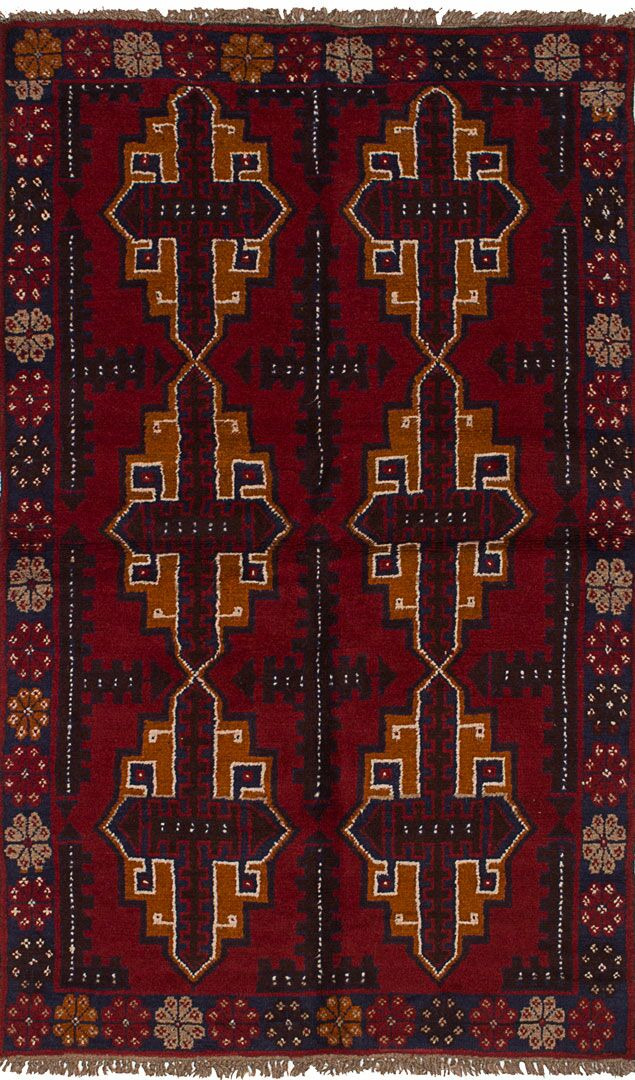 One-of-a-Kind Dix Hand-Knotted Wool Red/Beige Area Rug