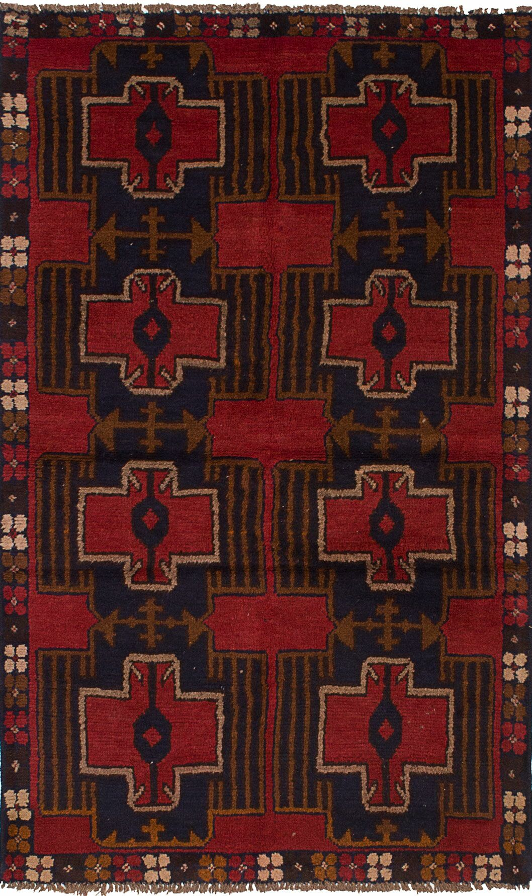 One-of-a-Kind Dix Hand-Knotted Wool Red Area Rug