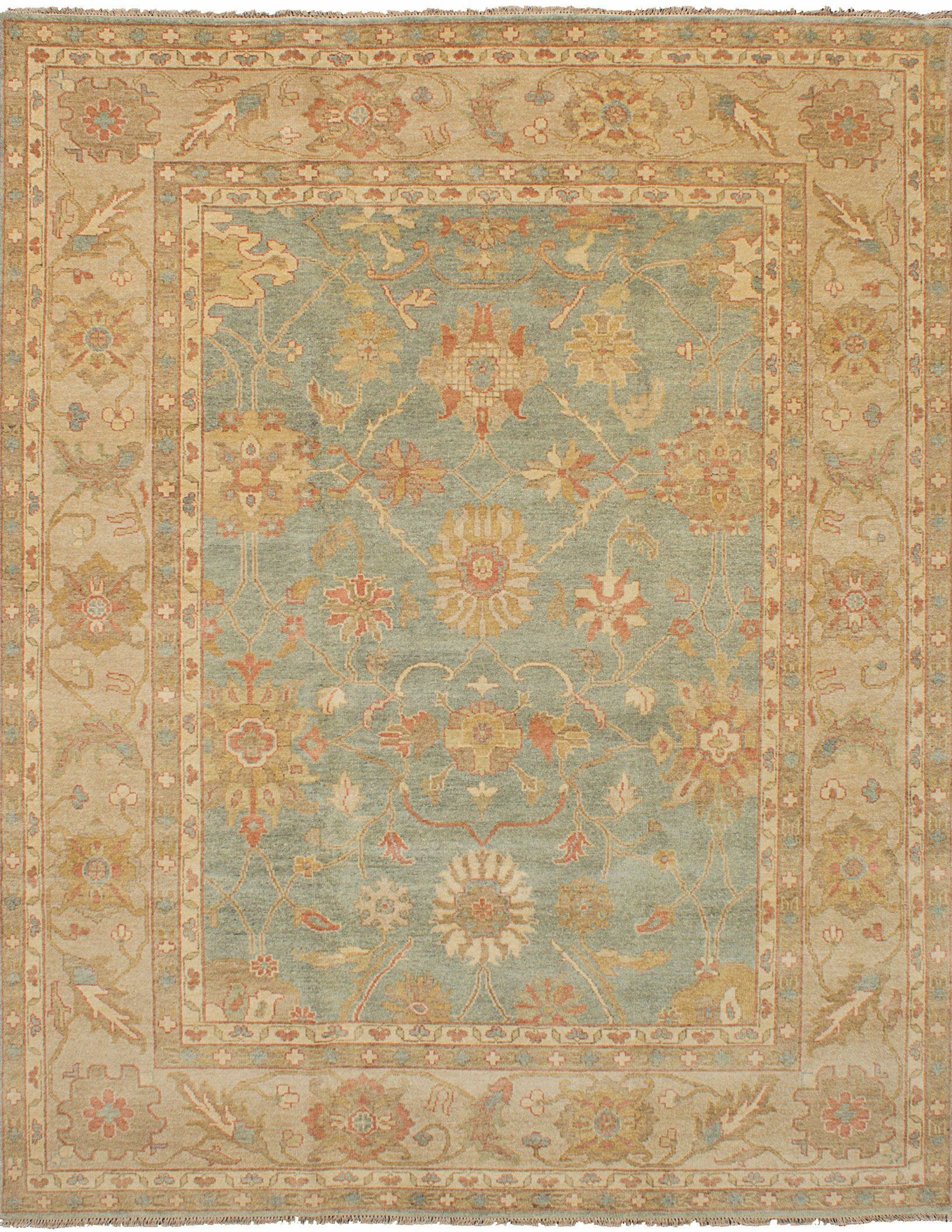 One-of-a-Kind Donoho Hand-Knotted Wool Beige/Gray Area Rug