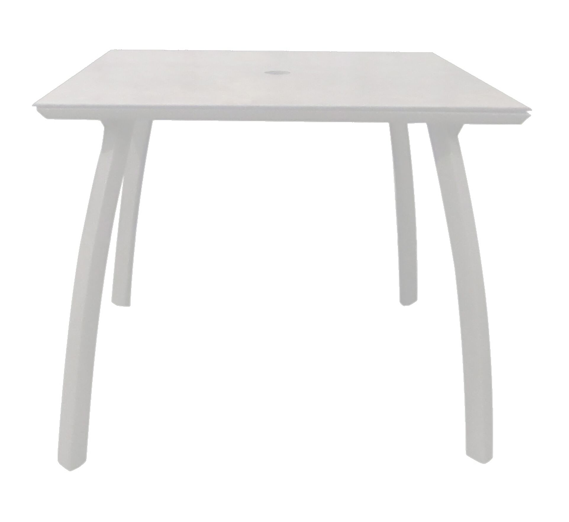 Leighann Square Dining Table Color: Glacier White