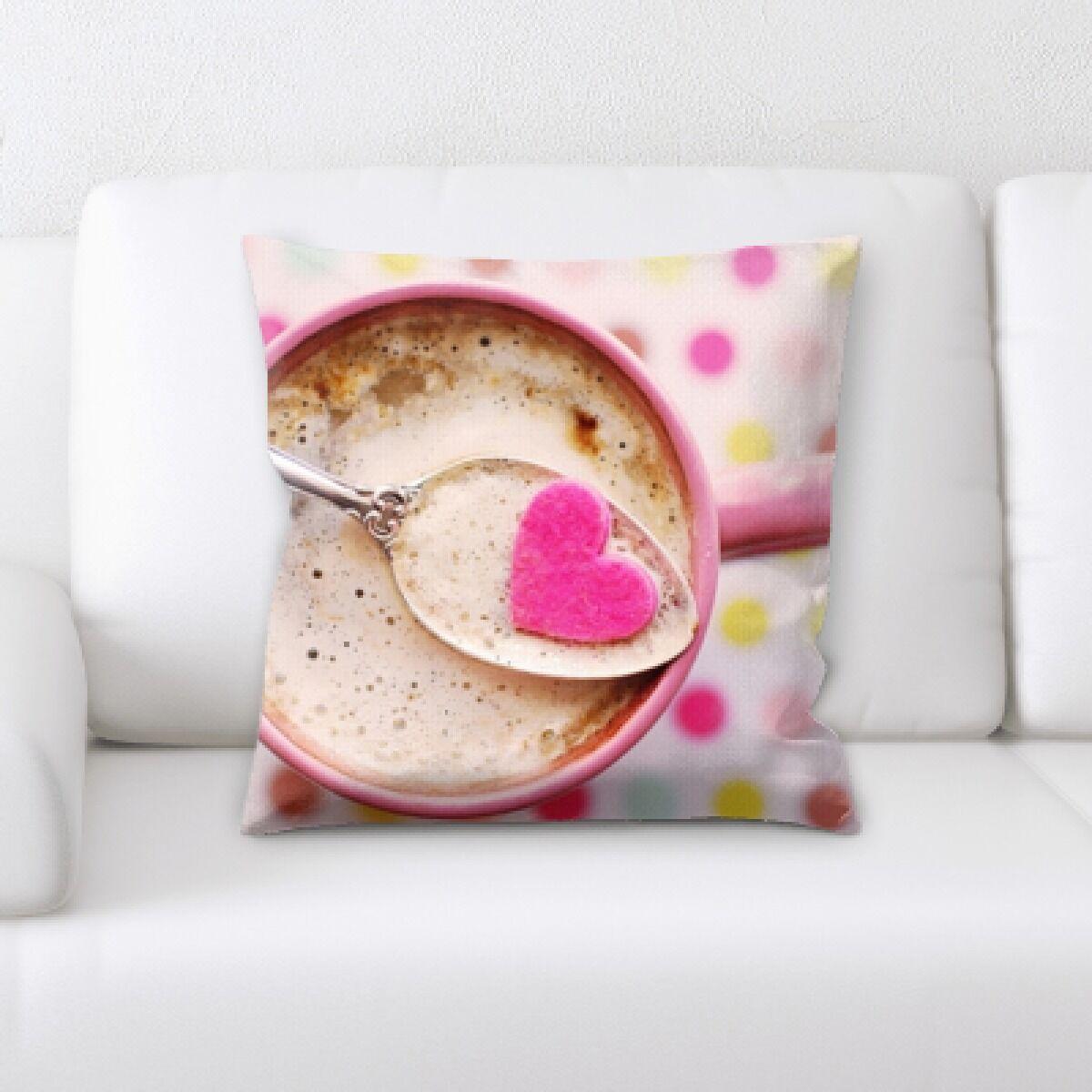 Pinette Coffee Love Throw Pillow