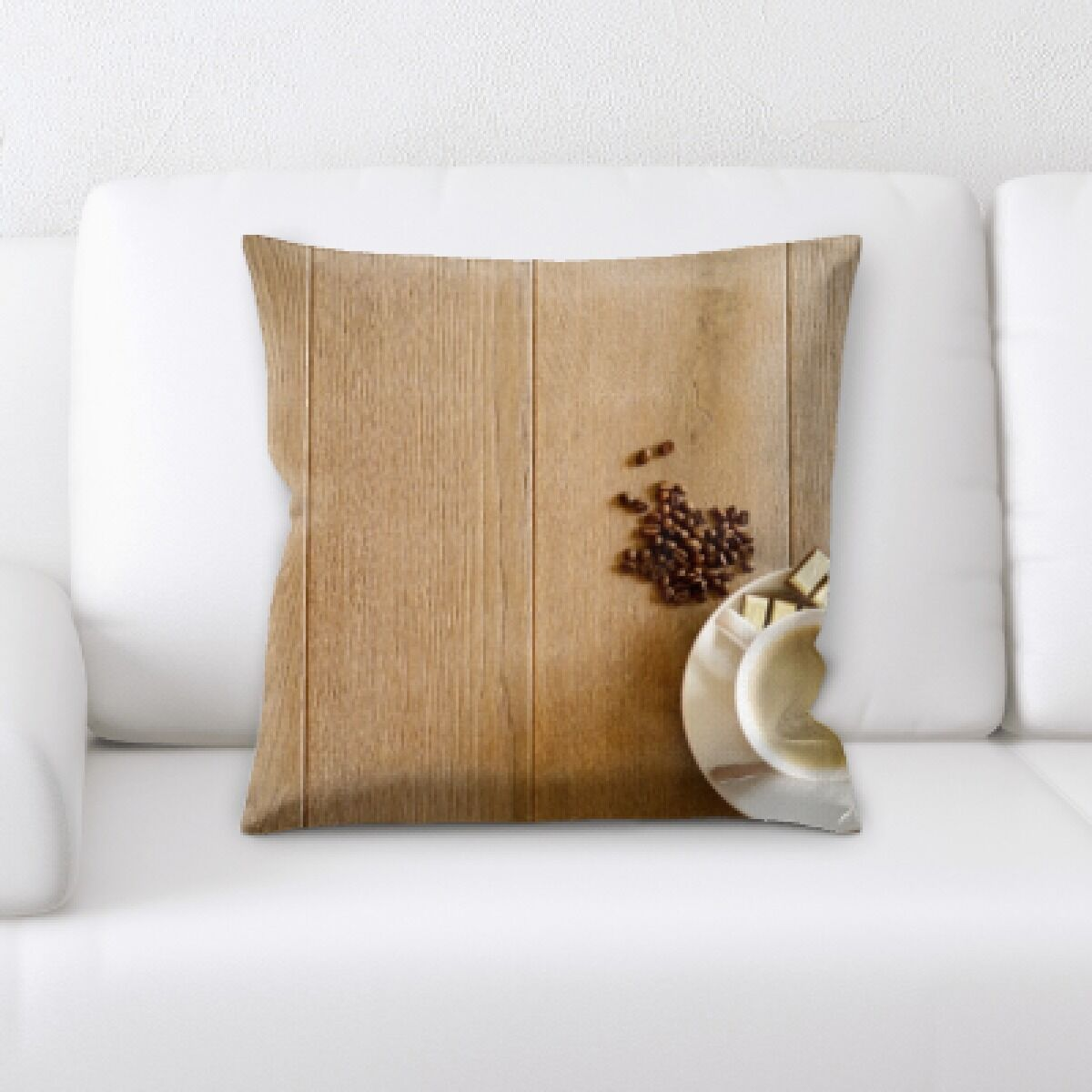 Konieczny Coffee on Table Throw Pillow