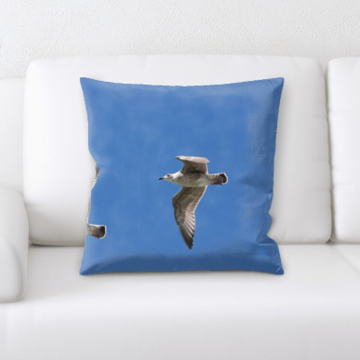 Claborn 3 Birds Flying Together Throw Pillow