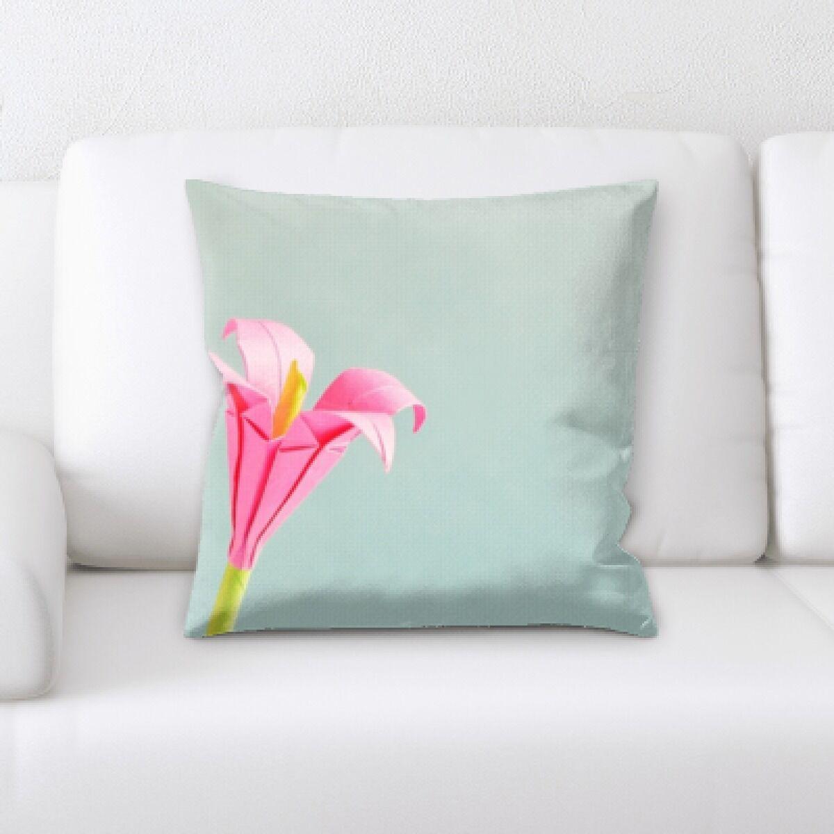 Grondin Art and Craft Flower Art Paper Throw Pillow