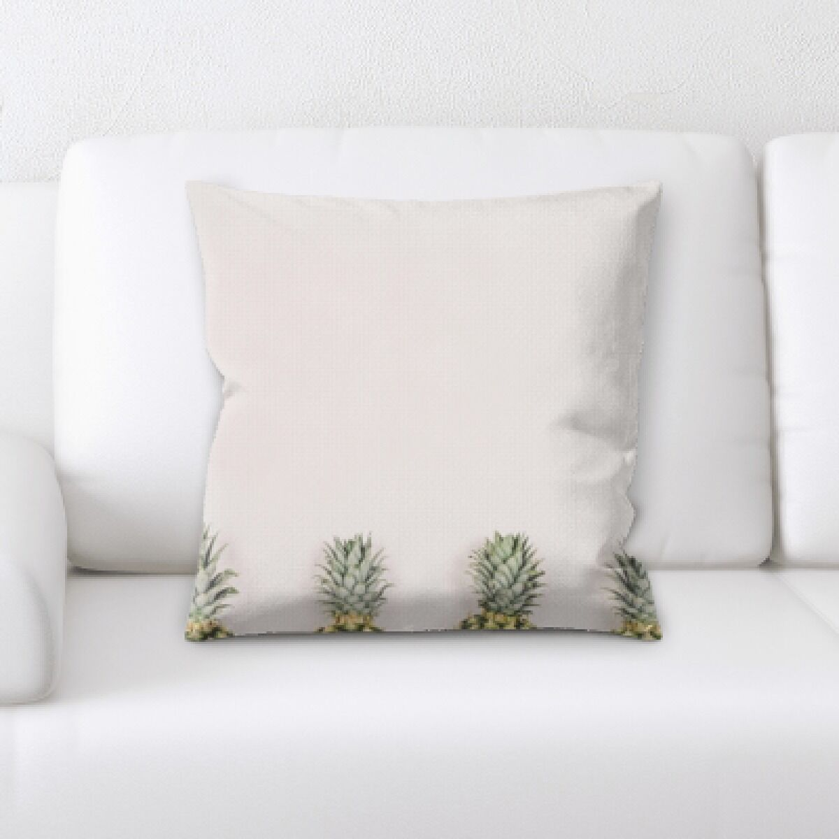 Gullane Fruits Half Pineapples on a White Background Throw Pillow