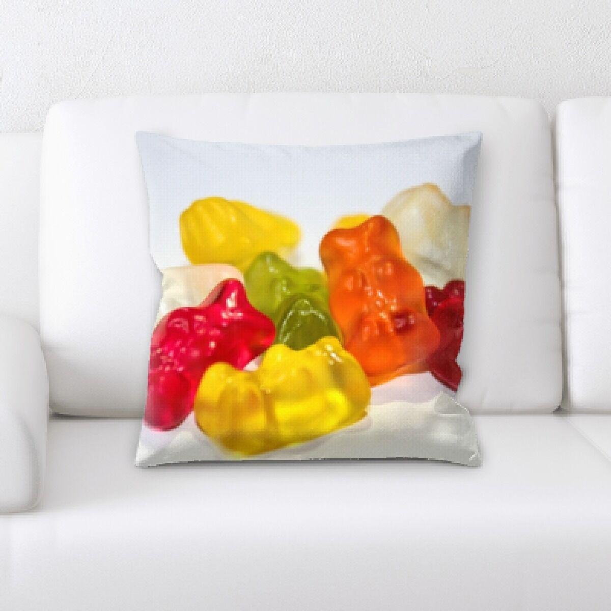 Beem Gummy Bear Throw Pillow