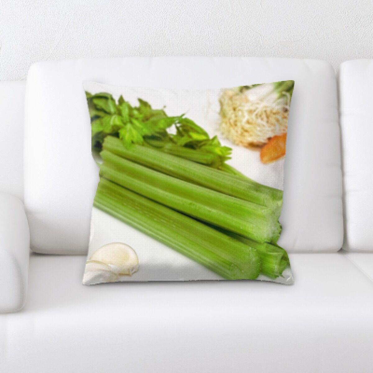 Billiot Fruits Mixed Vegetables Throw Pillow