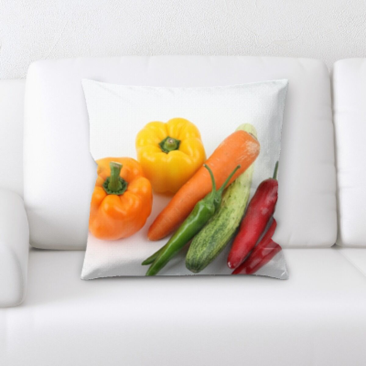 Billips Fruits Mixed Vegetables Throw Pillow