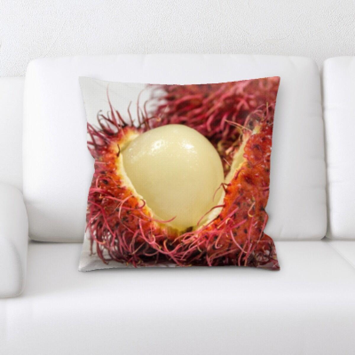 Bima Fruits Rambutan Throw Pillow