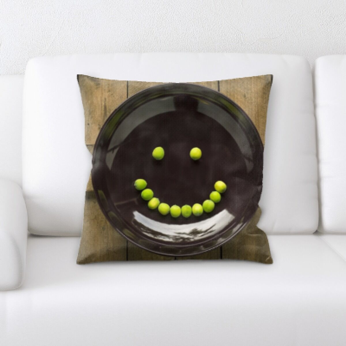 Blough Joy Feelings Limes Drawing Out a Happy Face Throw Pillow