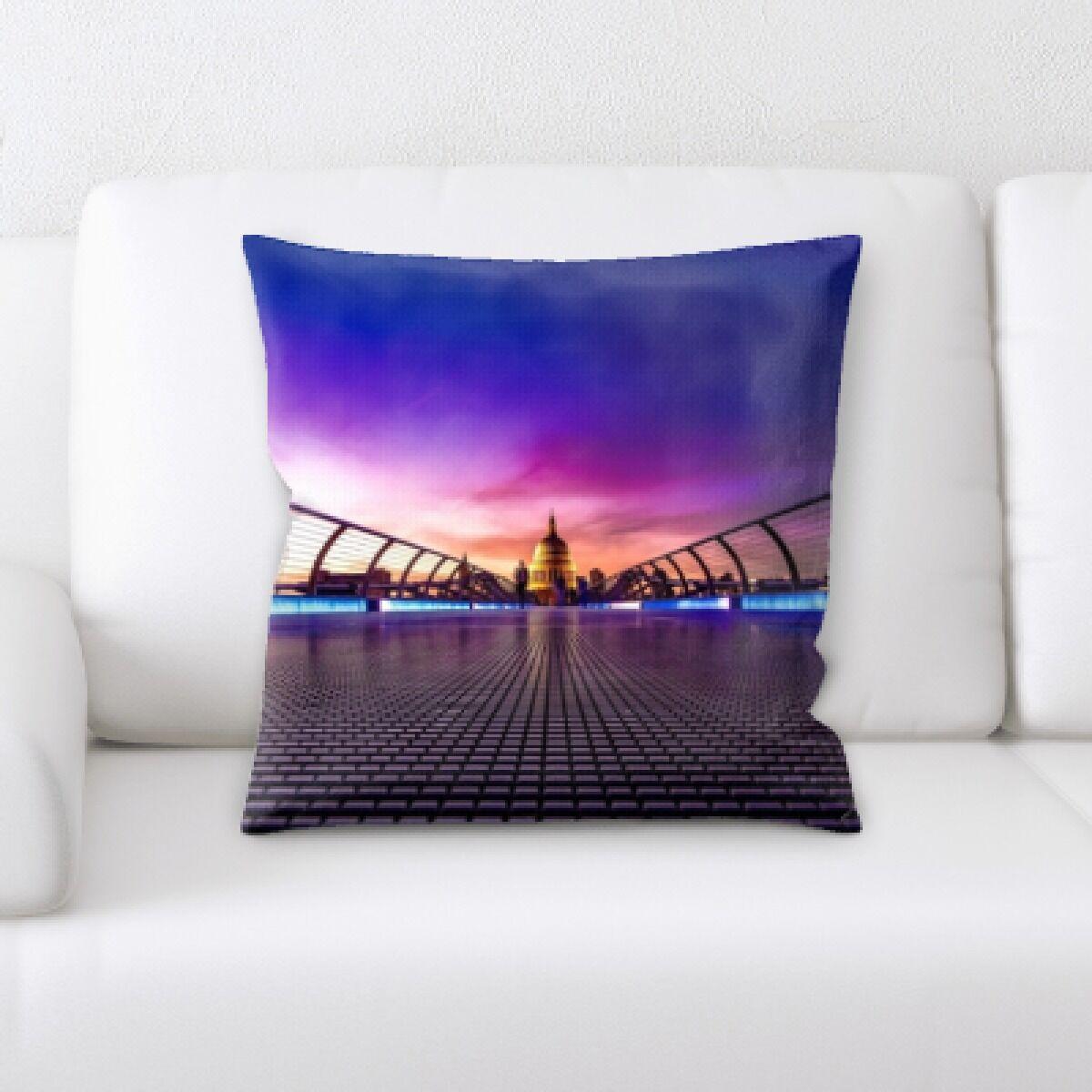 Guida City of London Throw Pillow