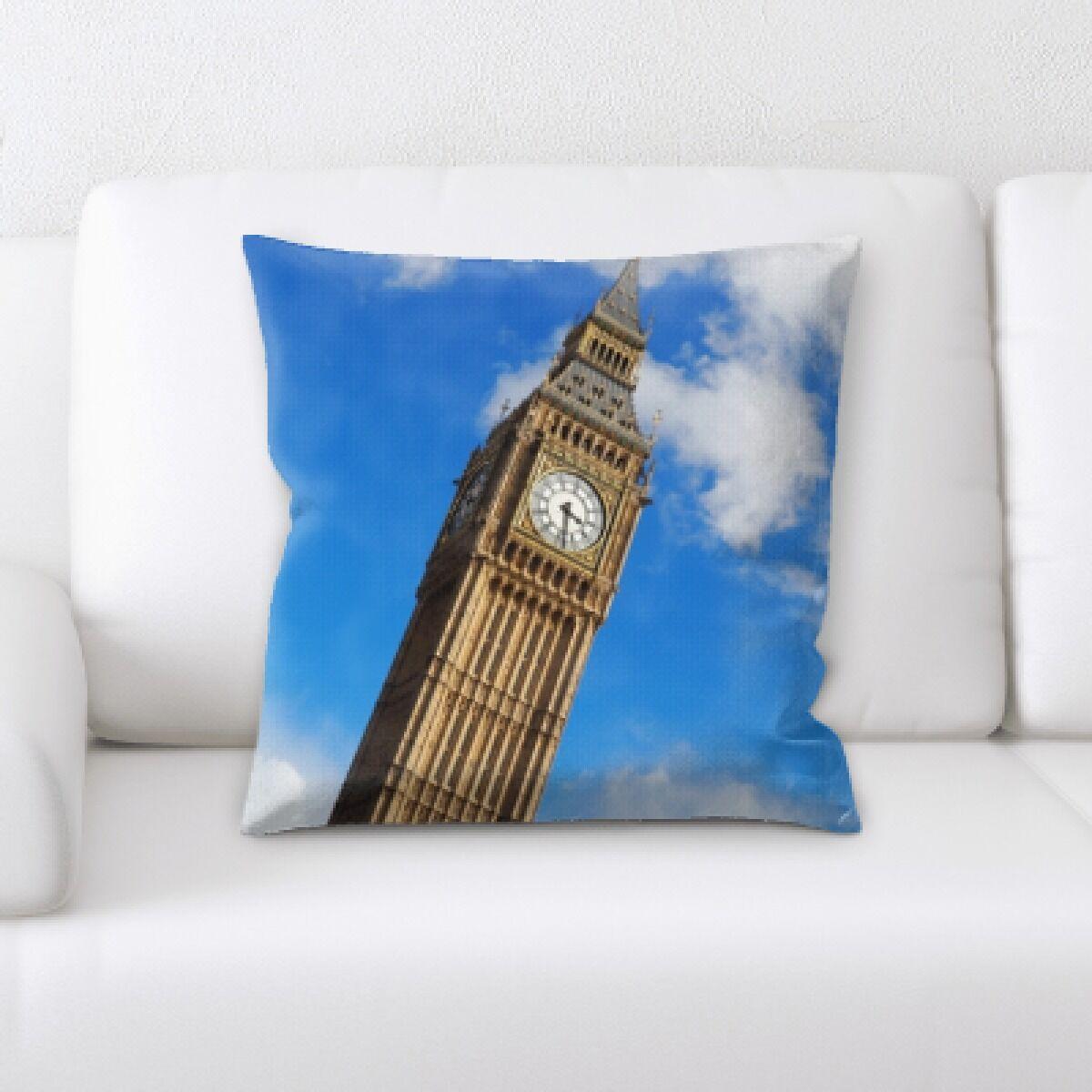 Gunderson London Clock Tower Throw Pillow