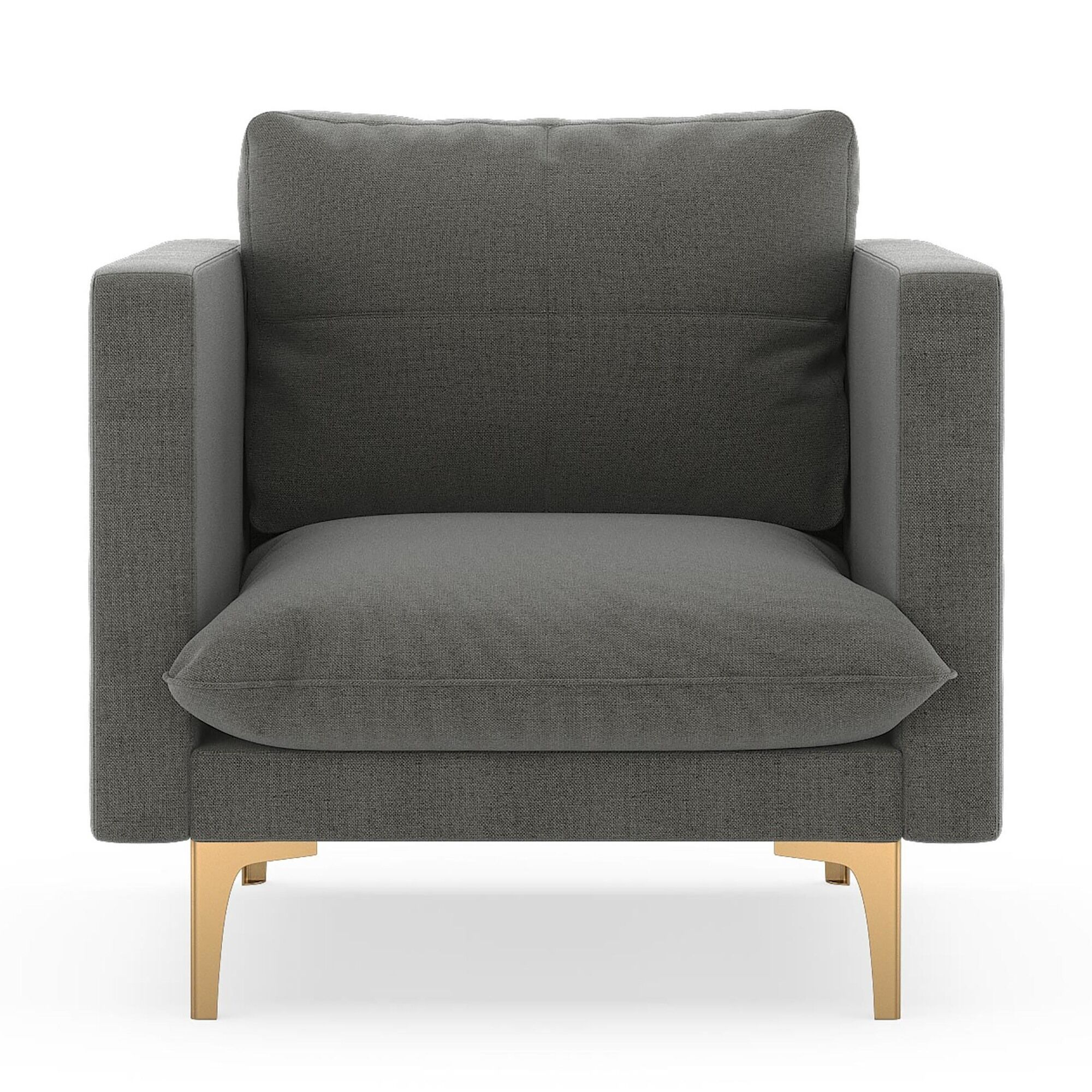 Crofoot Armchair Finish: Chrome, Upholstery: Pebble