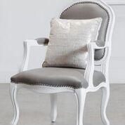 Lustre Rain Faux Fur Throw Pillow Color: Cream