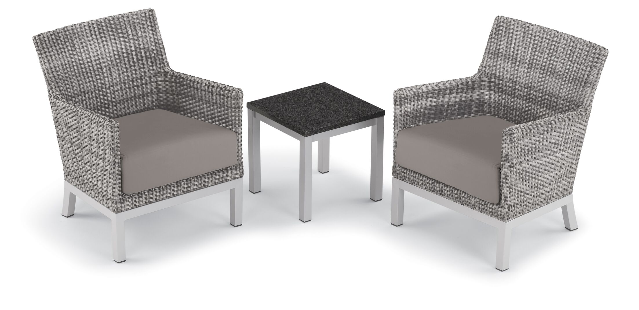 Saint-Pierre 3 Piece Seating Group with Cushions Cushion Color: Stone
