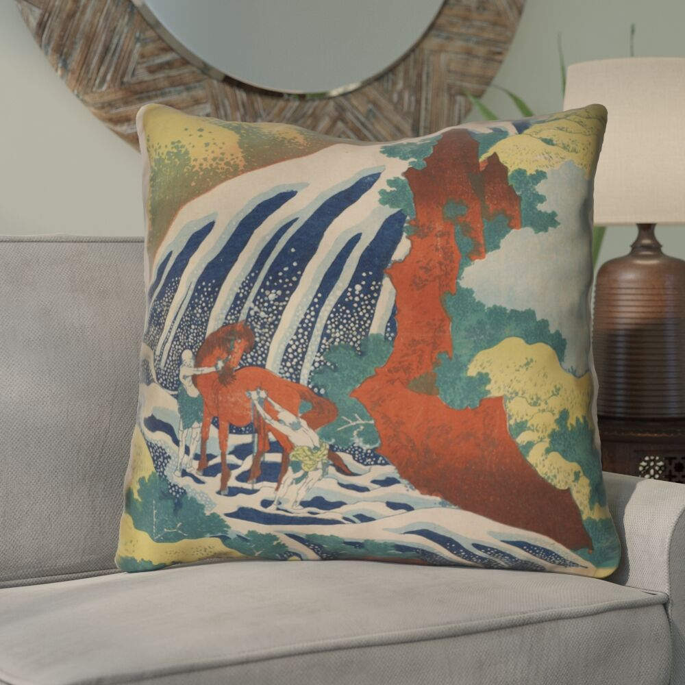 Montreal Horse and Waterfall Indoor Euro Pillow