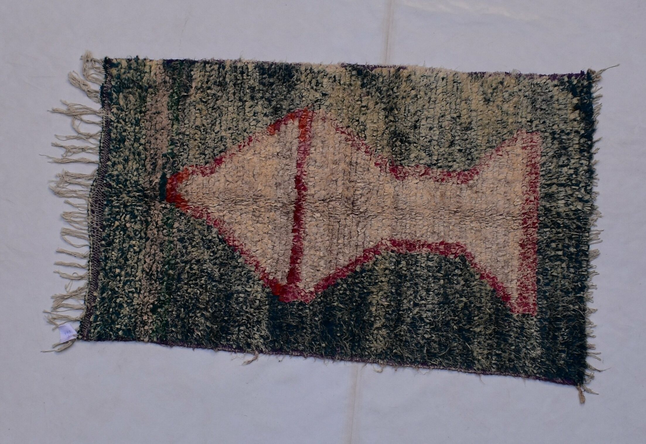 One-of-a-kind Ayour Moroccan Handmade Kilim Green/Beige Area Rug