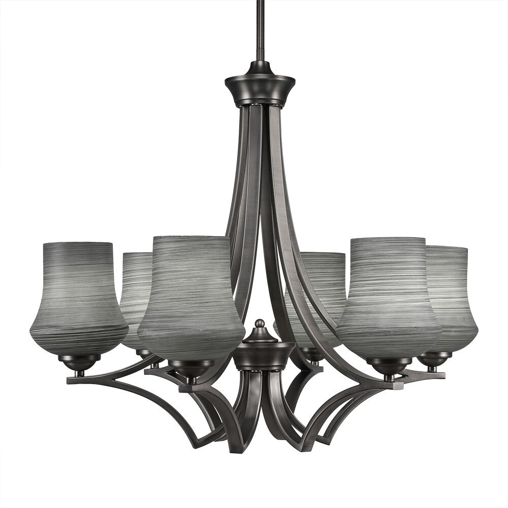 Couto 6-Light Shaded Chandelier Shade Color: Gray