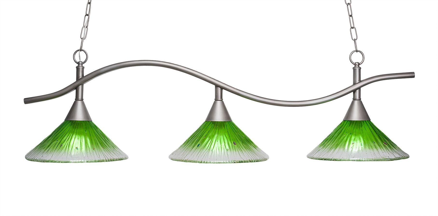 Demi 3-Light Kitchen Island Pendant Shade Color: Kiwi Green