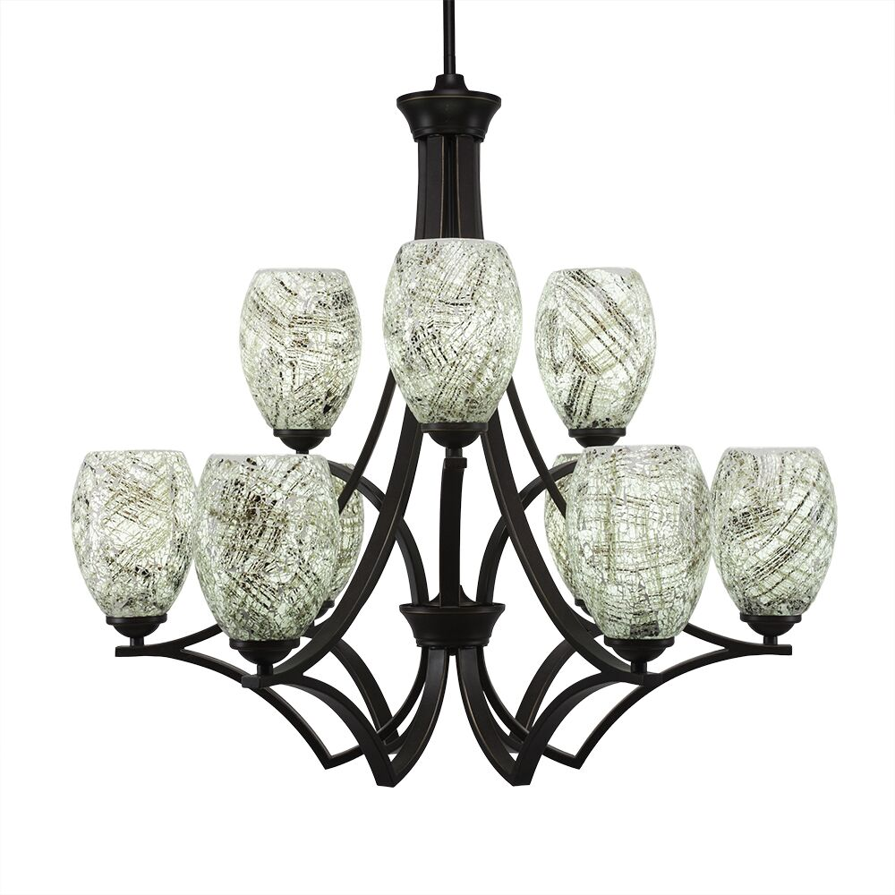 Couto 9-Light Shaded Chandelier Shade Color: Natural