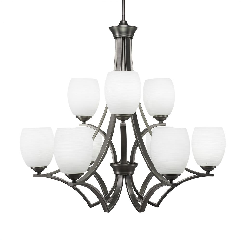 Couto 9-Light Shaded Chandelier Finish: Graphite