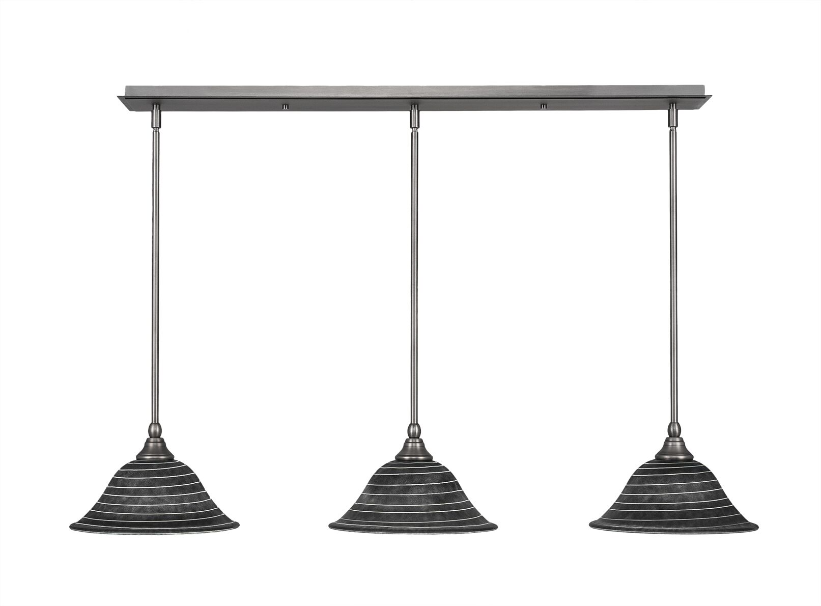 Ratchford 3-Light Kitchen Island Pendant Finish: Brushed Nickel
