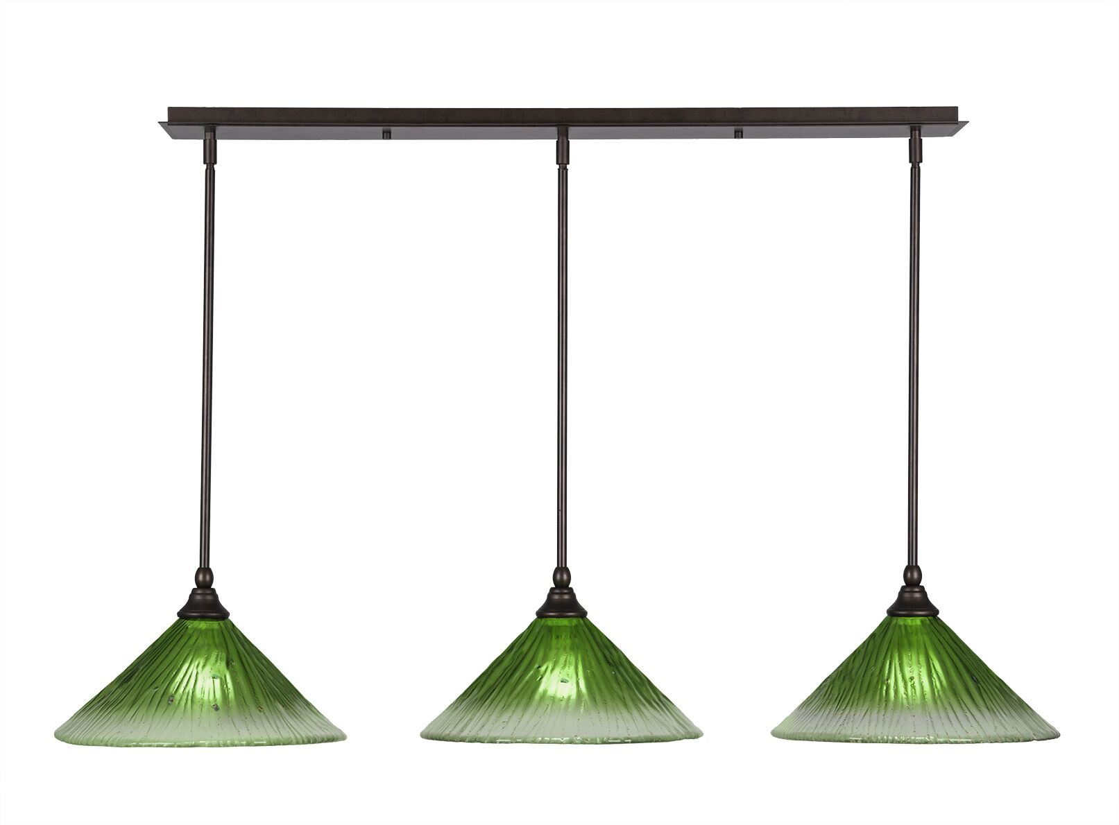 Ratchford 3-Light Kitchen Island Pendant Finish: Bronze, Shade Color: Wine