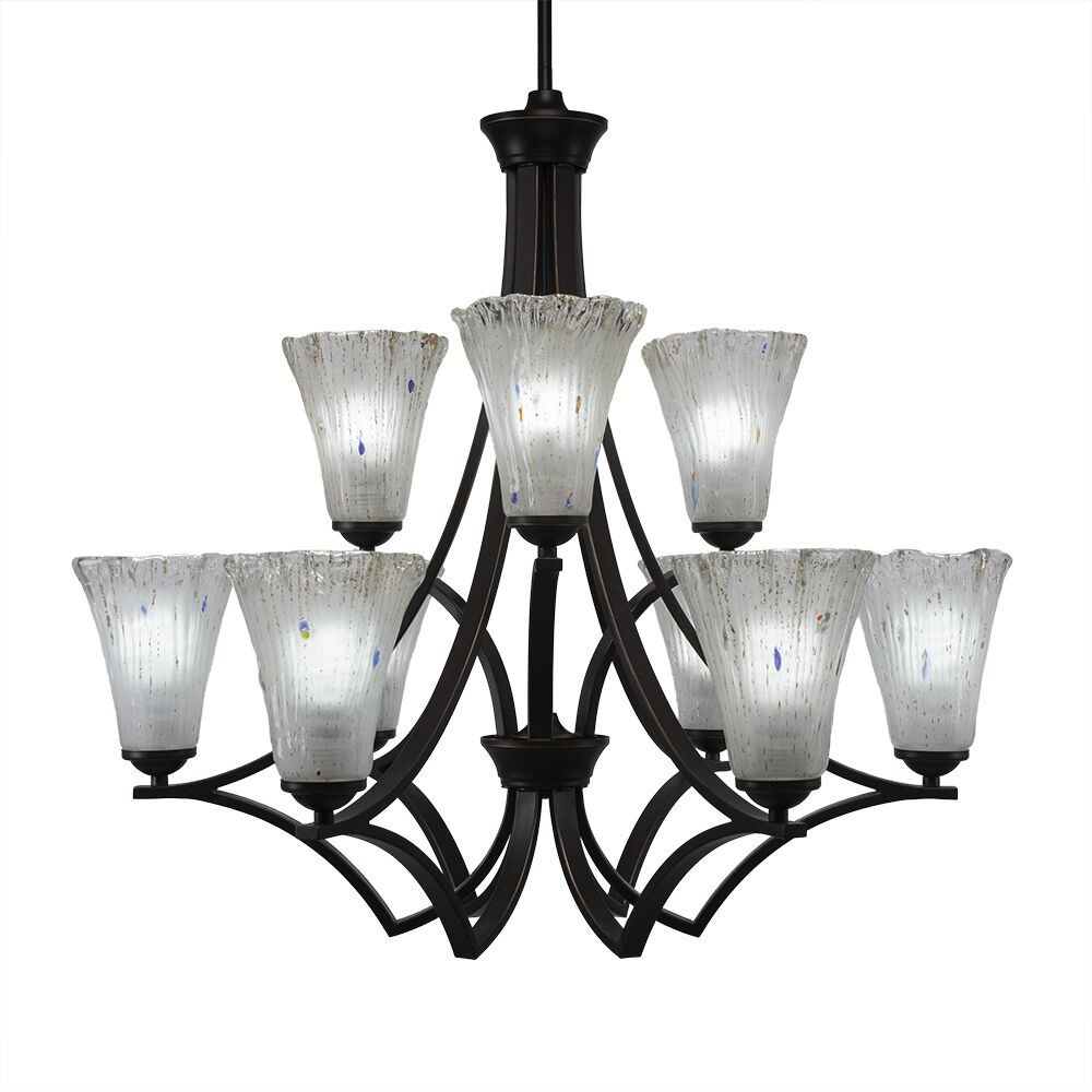 Couto 9-Light Shaded Chandelier Finish: Dark Granite