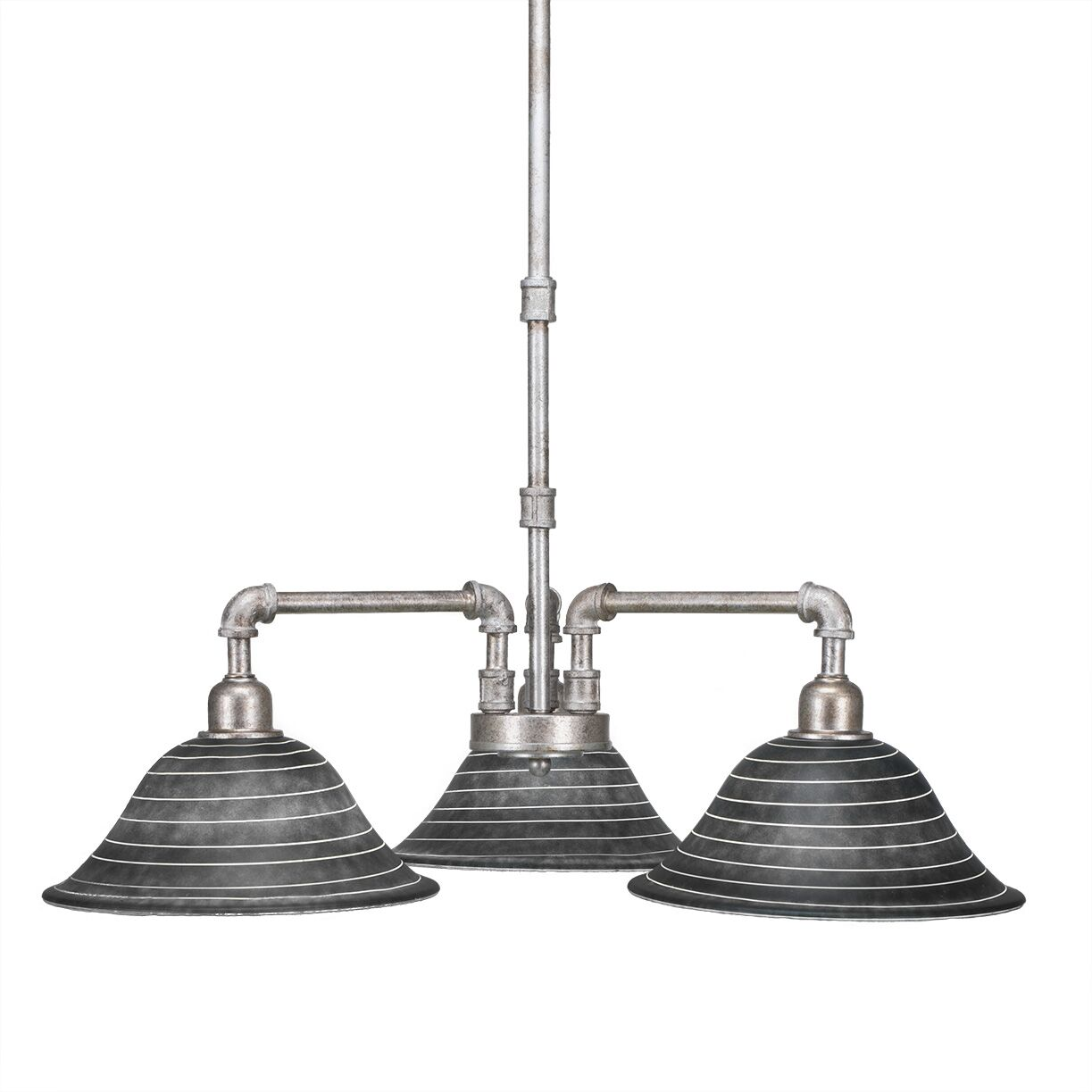 Kash 3-Light Shaded Chandelier Size: 19