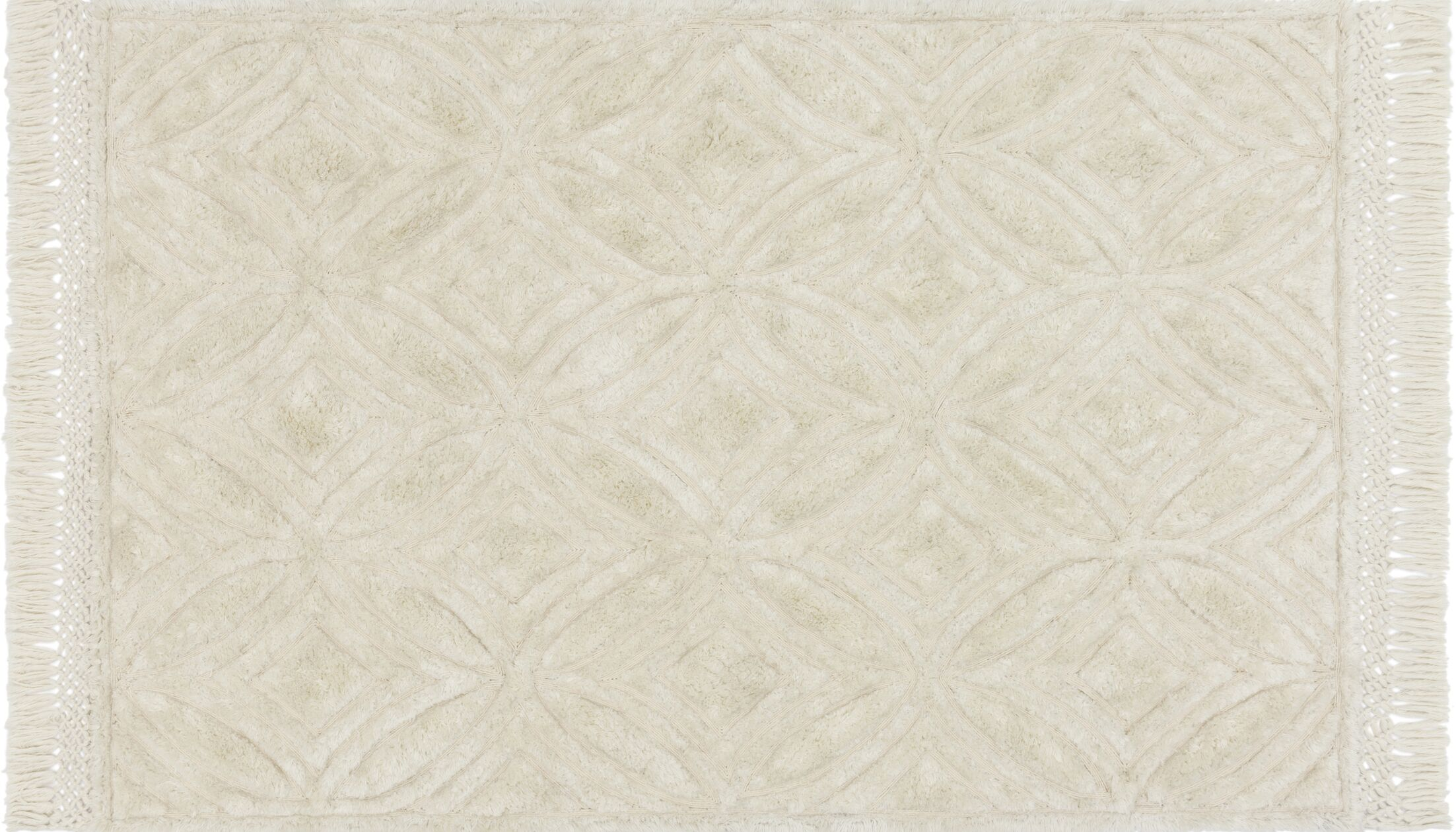 Werth Hand-Tufted Ivory Area Rug Rug Size: Rectangle 5' x 7'6