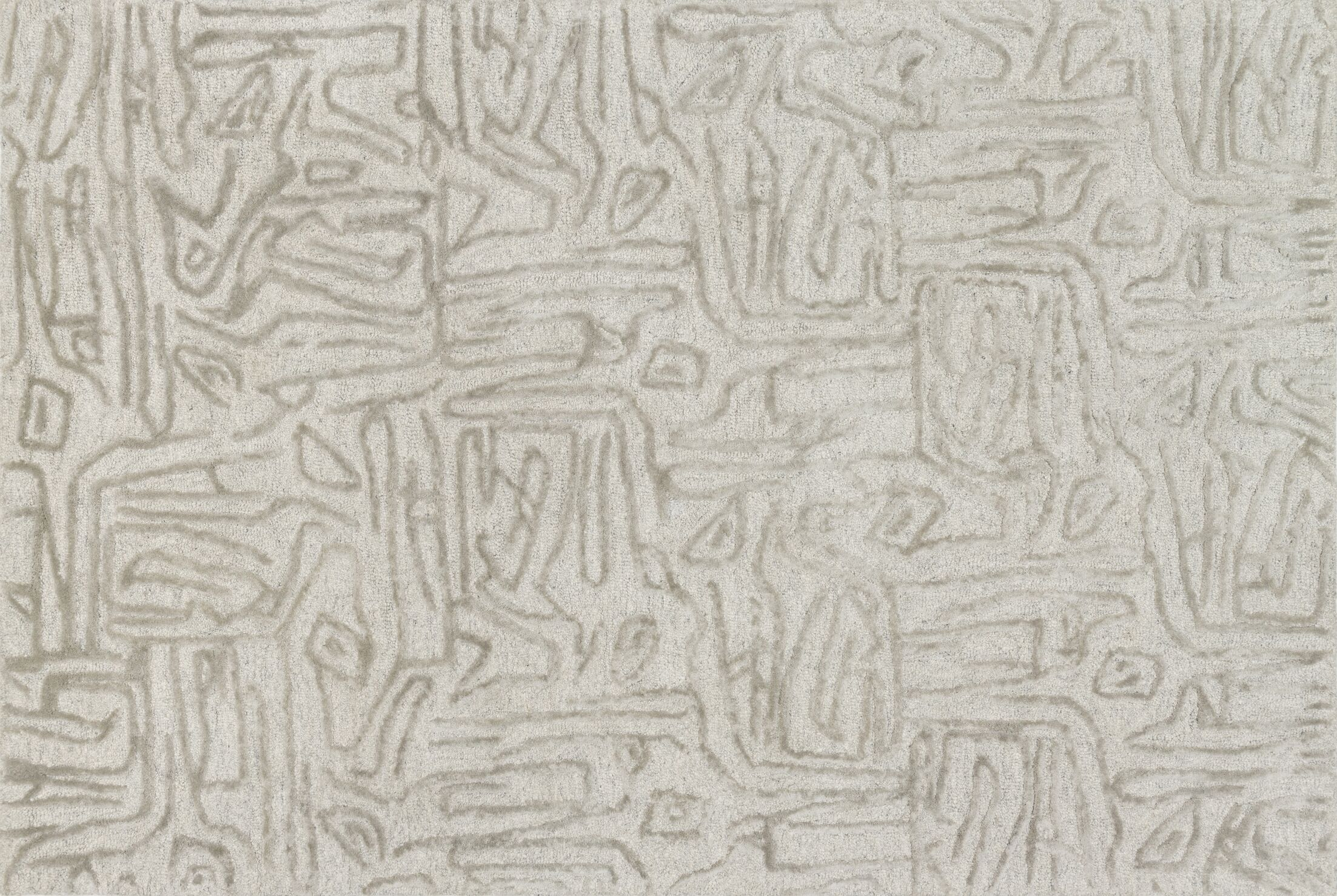 Rusch Hand-Tufted Silver Area Rug Rug Size: Rectangle 9'3