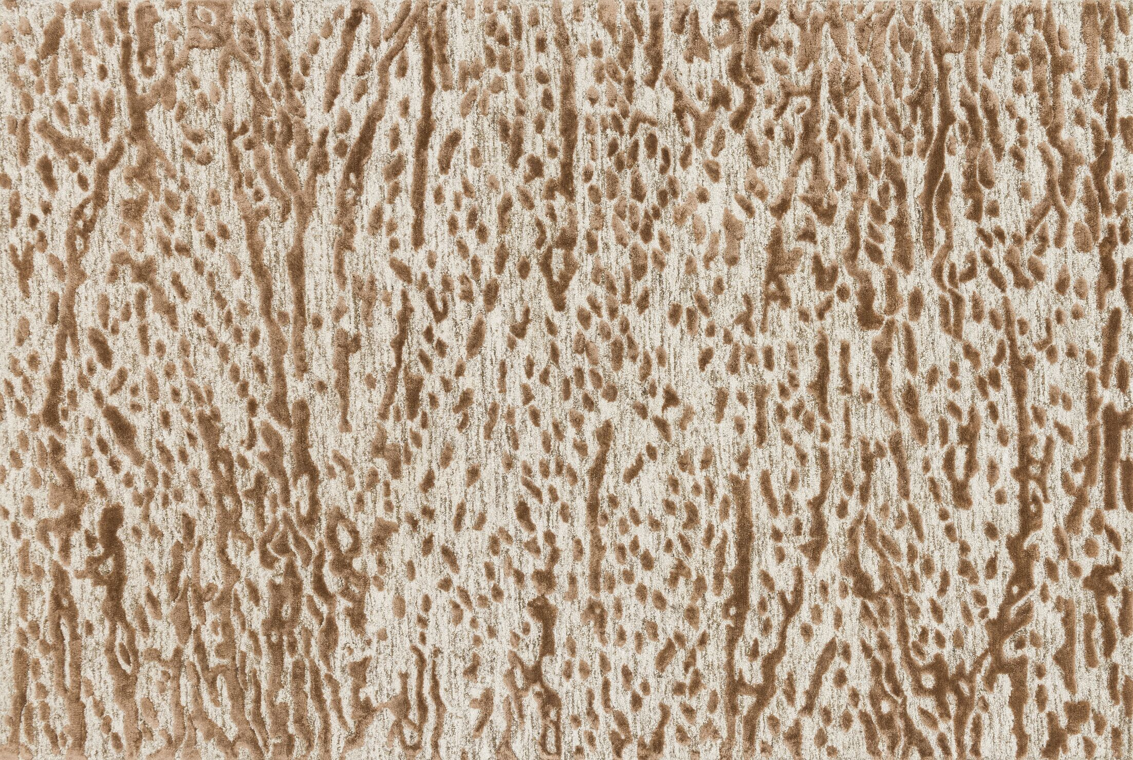 Rusch Hand-Tufted Oatmeal/Terracotta Area Rug Rug Size: Rectangle 9'3